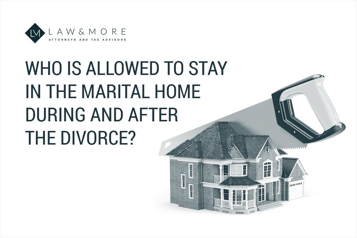 Kdo lahko med razvezo in po njej ostane v zakonskem domu?