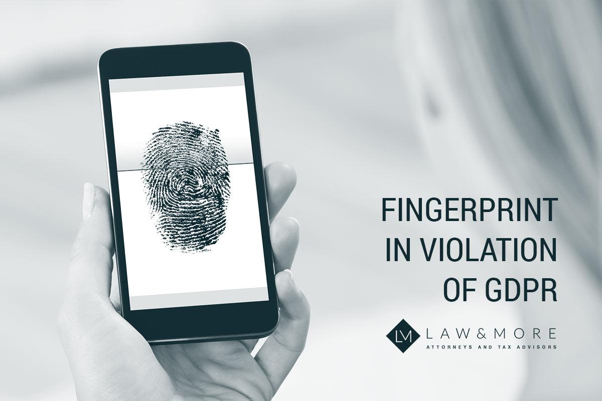 Impronta digitale in violazione del GDPR