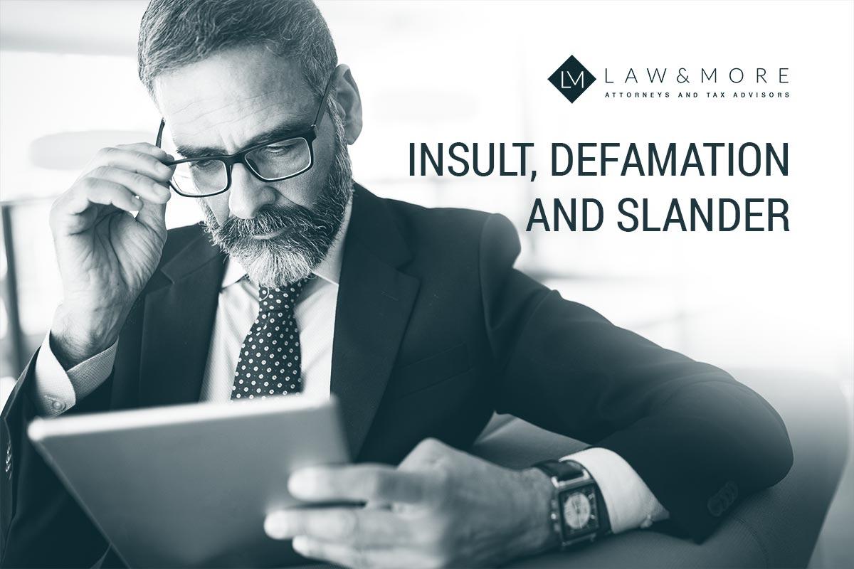 Навреда, клевета и клевета