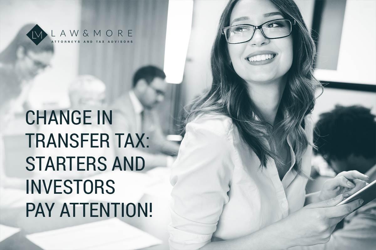 譲渡税の変更:スターターと投資家は注意を払います! 画像