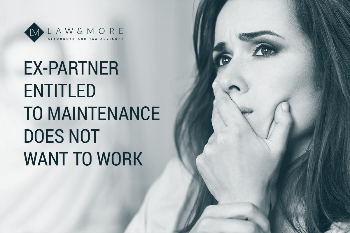 Bivši partner koji ima pravo na izdržavanje ne želi raditi