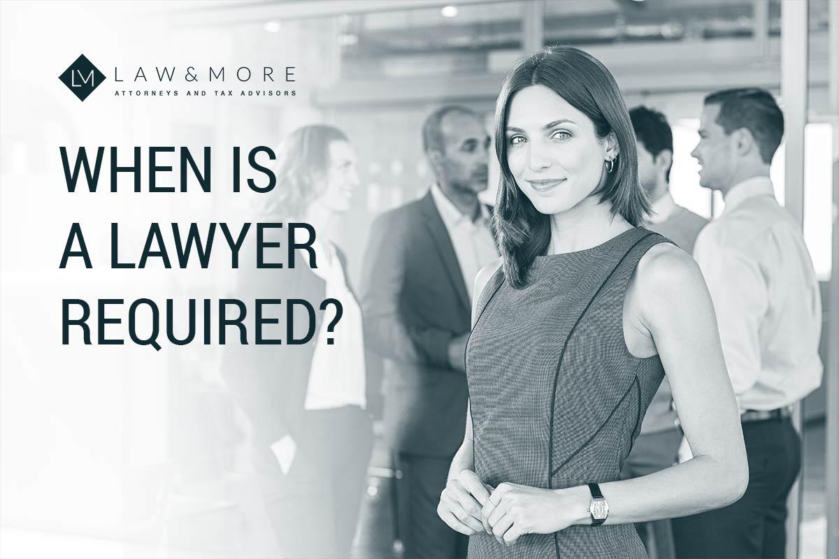Πότε απαιτείται δικηγόρος;